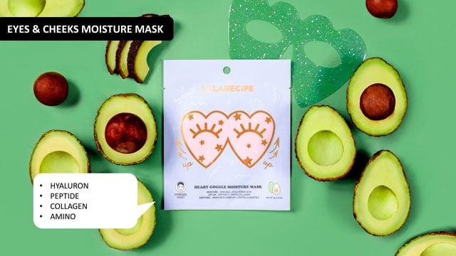 lalarecipe HEART GOGGLE MOISTURE MASK avocado hydrogel
